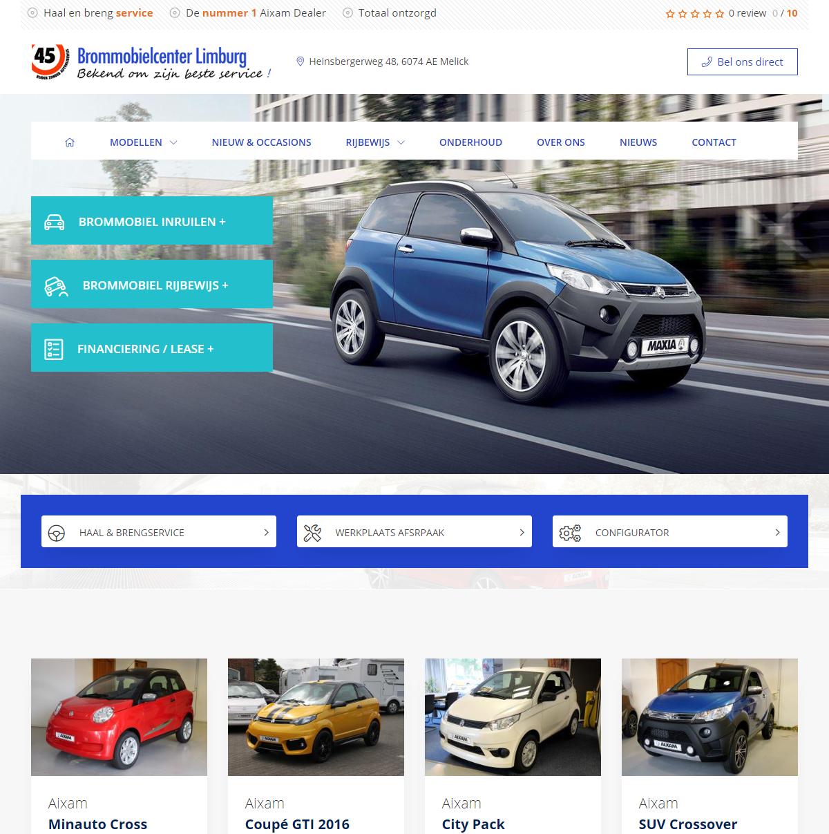 Nieuwe website Brommobielcenter Limburg
